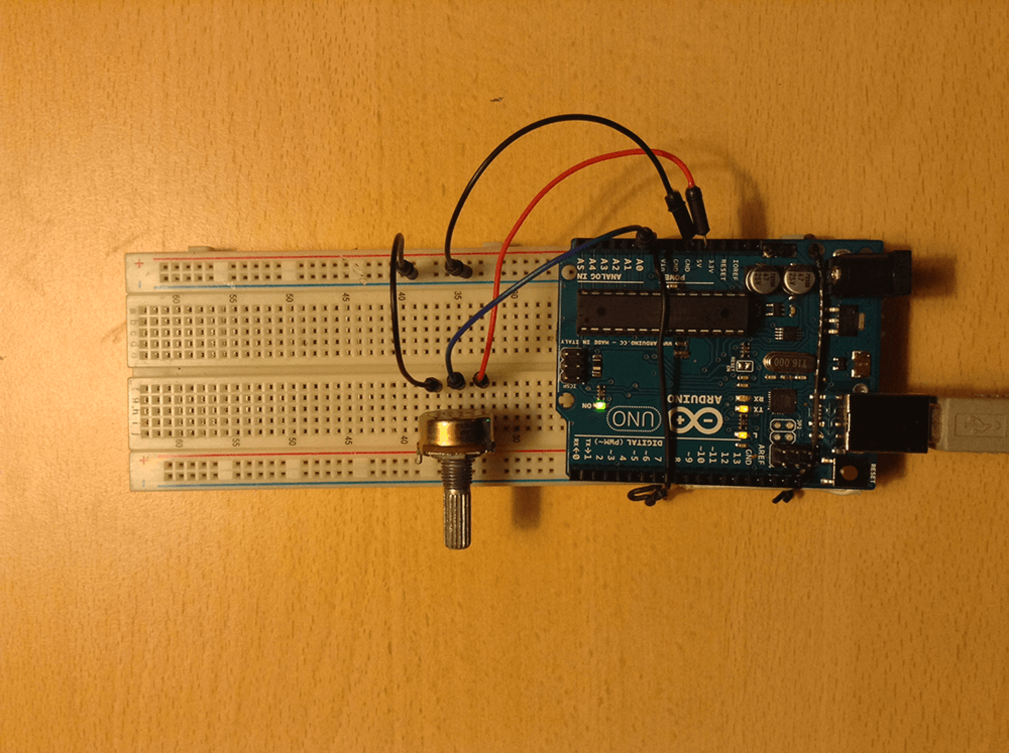 Fritzing Project Potentiometer On Arduino Potentiometer Wiring