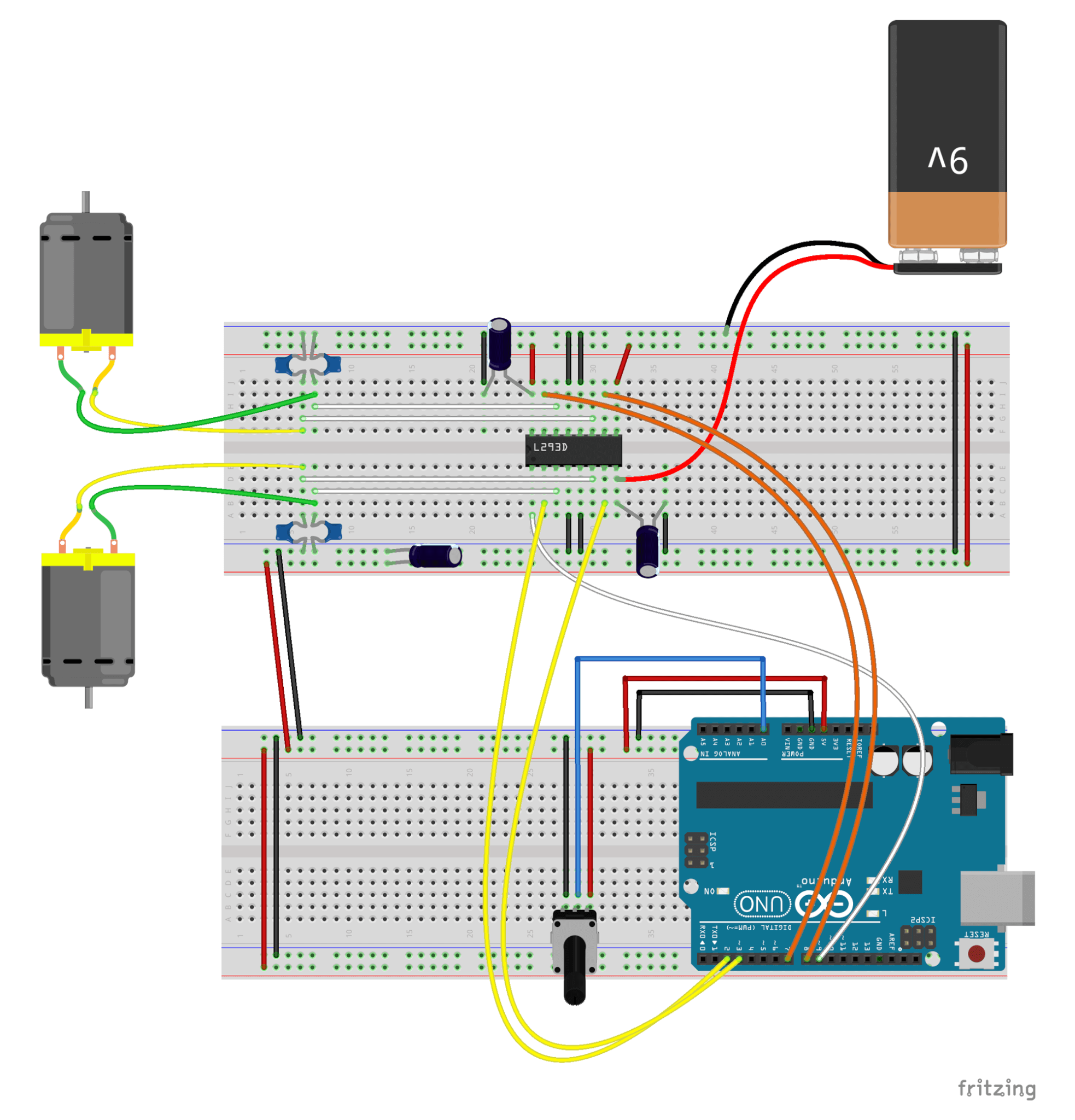 Arduino H Bridge with PWS Fritzing File Sketch 06d